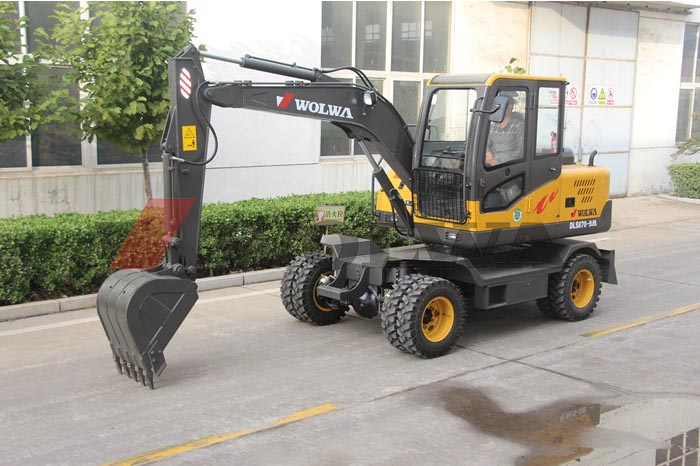 Wolwa Group Unveiled A Kind of New Wheel Hydraulic Excavator-Model DLS870-9M