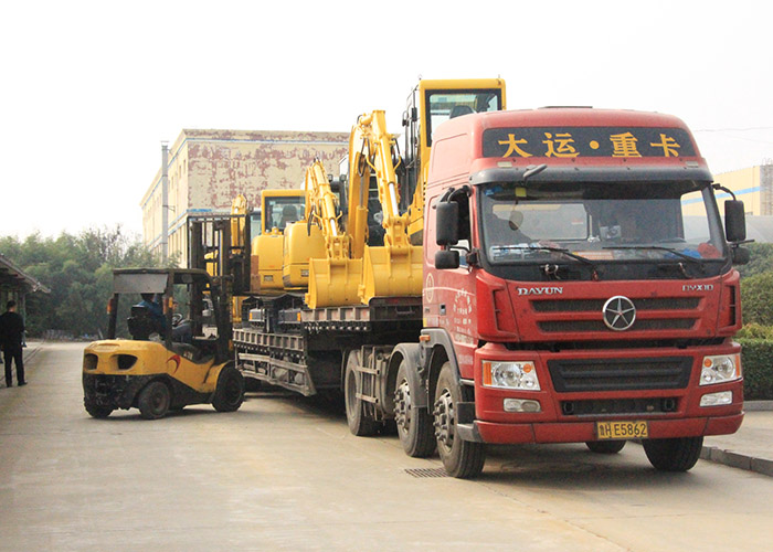 Wolwa Group exported 10 sets of excavators to Bolivia smoothly